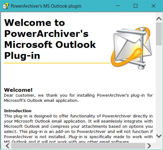 PowerArchiver for Office Add-ins(PAOP) – PowerArchiver